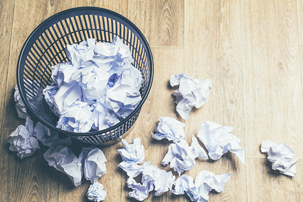crumpled-paper-and-trashcan