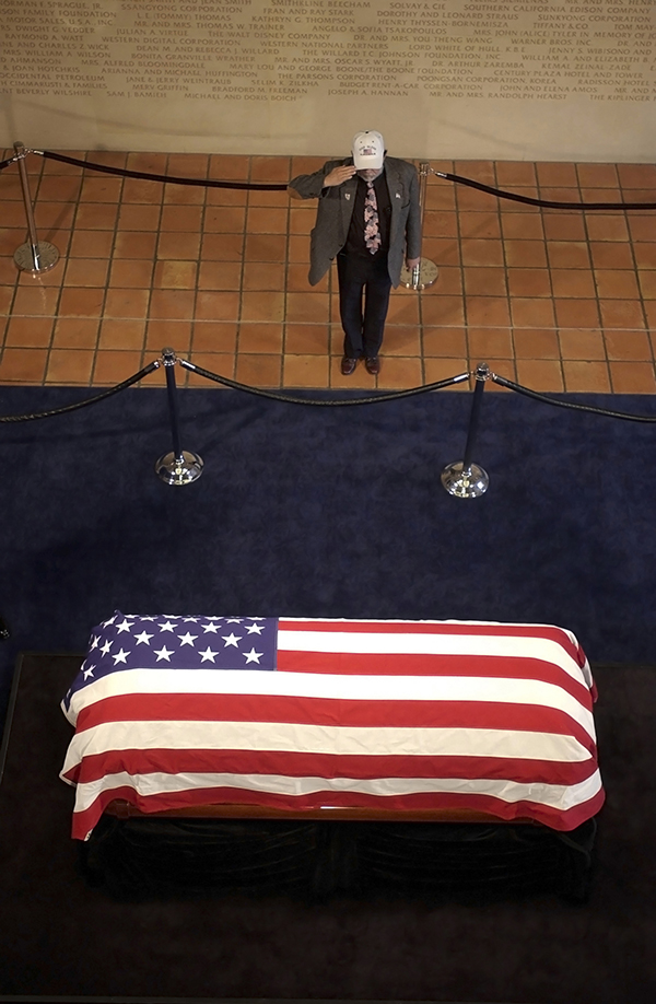 Casket with Flag