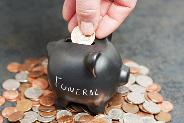 Penny Bank that says Funeral