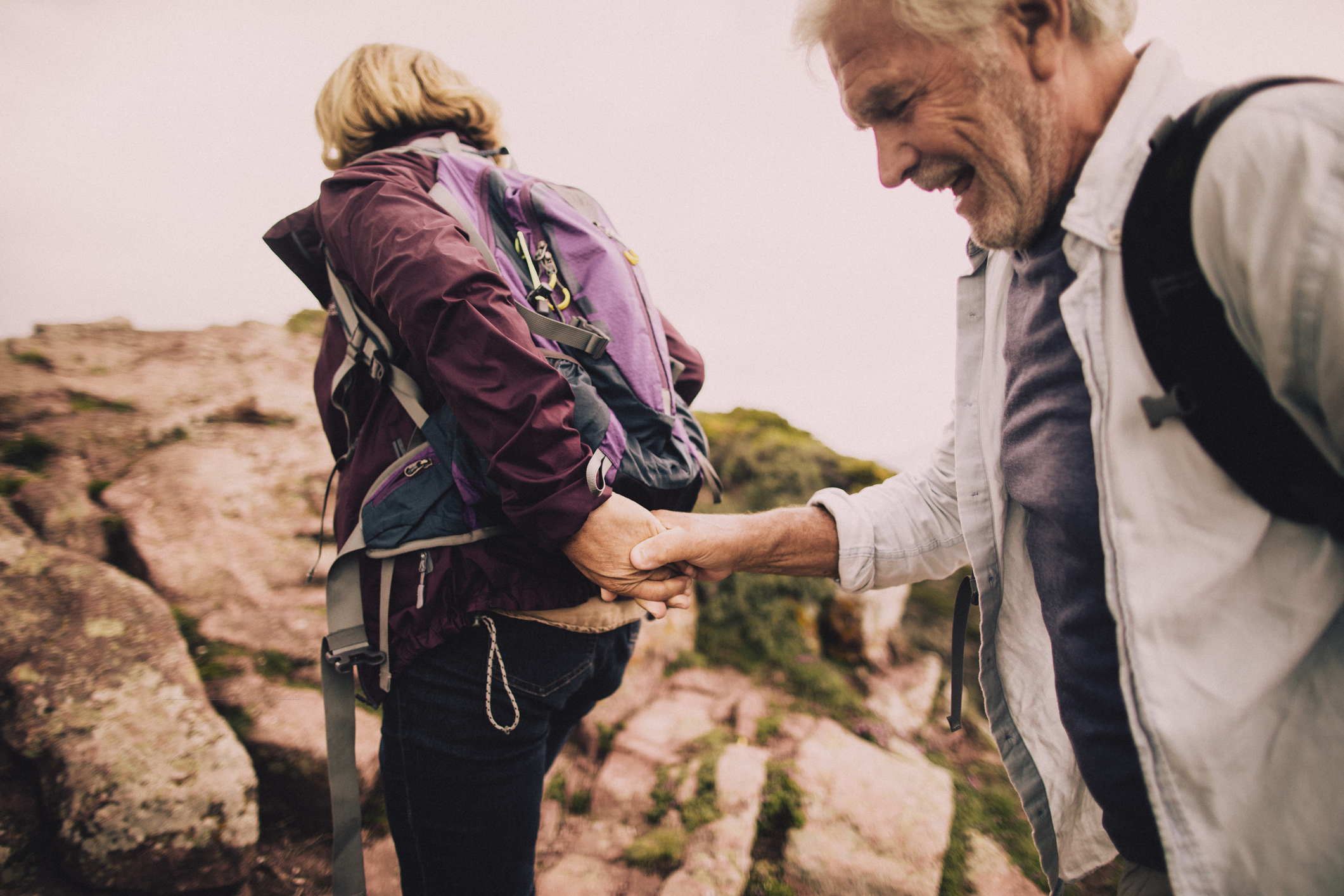 older-couple-hike-mountain