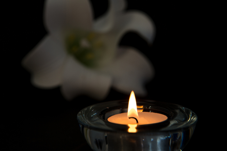 Memorial Candle flower