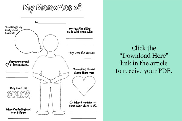 Activity To Help Children Process A Loss